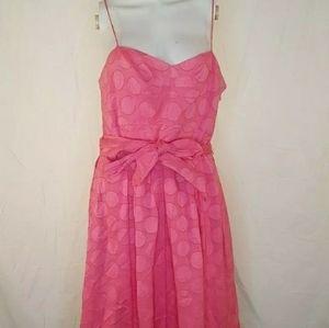 Eliza J Pinl A-line Polka dot Dress Size12 tie wai